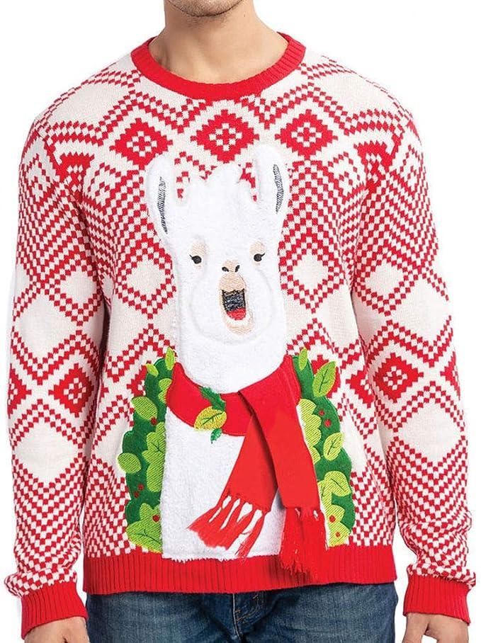 Amazon.com: JOYIN suéter feo navideño de llama alpaca, para ...