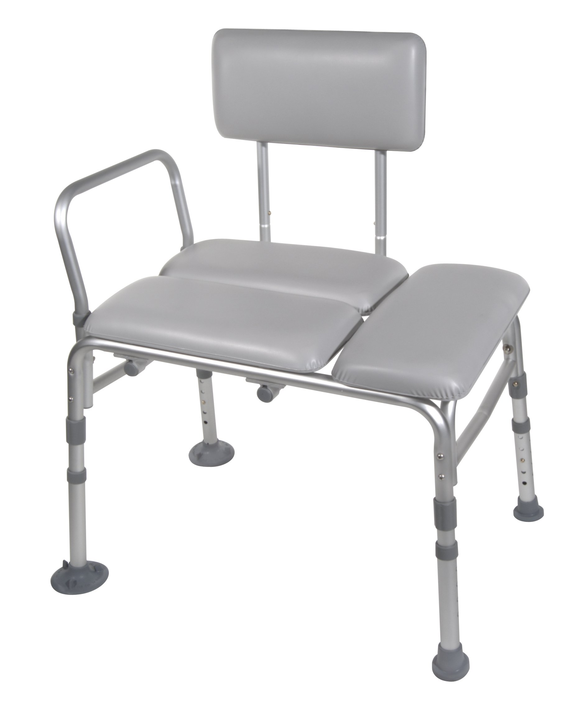 Drive Medical Padded Seat Transfer Bench, Gray by Drive Medical