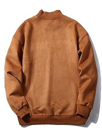 Yanhoo Sudadera con Capucha de diseño Delgado de Moda de otoño Invierno Moda de los Hombres Suéter con Capucha de Piel sintética de los Hombres Sudadera ...