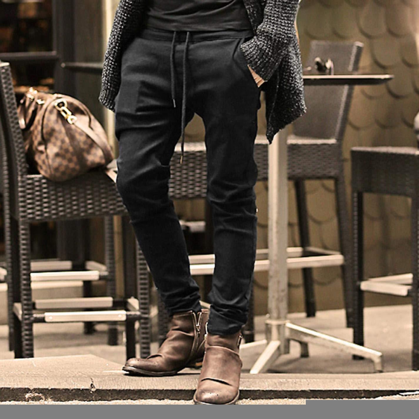kjPmgDxK Mens Stretch Denim Skinny Slim Fit Solid Casual Jeans