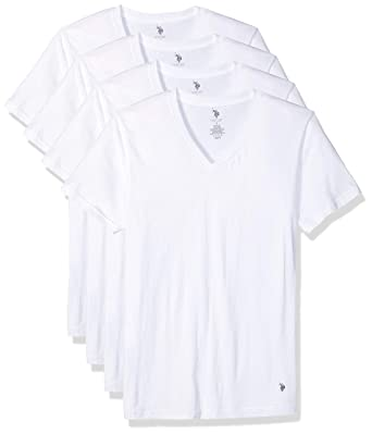 U S Polo Assn Men S V Neck T Shirt 4 Pack At Amazon Men S