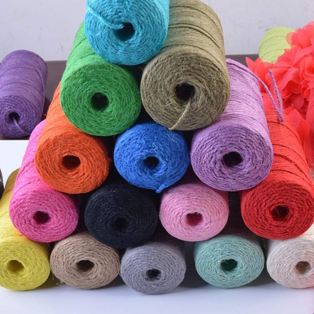 Boburyl El c/á/ñamo Colorido de la Cuerda Cuerda de de Yute Natural Twine Cadena Rollo de c/á/ñamo Cuerda para Bricolaje Art Crafts y embalar Negro
