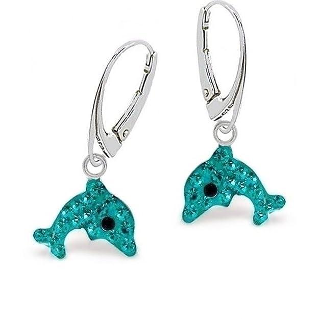 Delphin Ohrstecker 925 Sterling Silber Delfin Ohrringe Kinder Geschenkidee