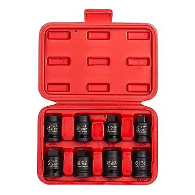Sunex 2841 1/2-Inch Drive Pipe Plug Socket Set, Male/Female set, Cr-Mo, 7/16-Inch - 5/8-Inch Male, 7/16-Inch - 5/8-Inch Female, 8-Piece - Hand Tools Wrenches Sunex - .com