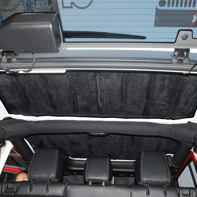 RT-TCZ for Jeep Wrangler JK Headliner Hardtop Heat Insulation Kit 4 Door Rear Window Ceiling Roof Insulation Cotton Kit Car Styling Accessories for 2011-2018 Jeep Wrangler JKJKU 4 Door