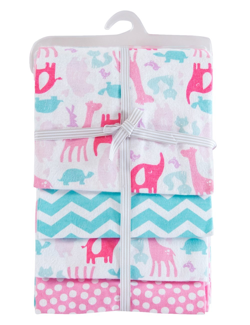 PHF 100/% Cotton Flannel Receiving Blankets Warm Unisex 30x40 Pink 4 Count