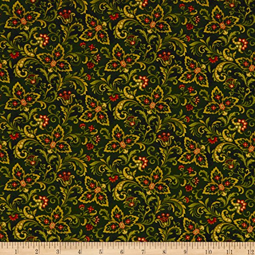 Cotton Album Quilt - Henry Glass Autumn Album Paisley Forest Fabric by The Yard,