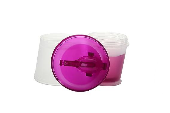 Color: Viola Incluida Cuchara Plegable Muesli To Go Taza T/érmica para Cereales//Granola para Viajes con Compartimento Refrigerado para Leche o Yogur
