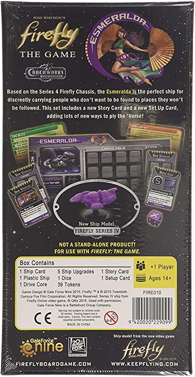 Firefly The Gale Force Nine Esmeralda Barco Extensión Juego de Mesa: Amazon.es: Juguetes y juegos