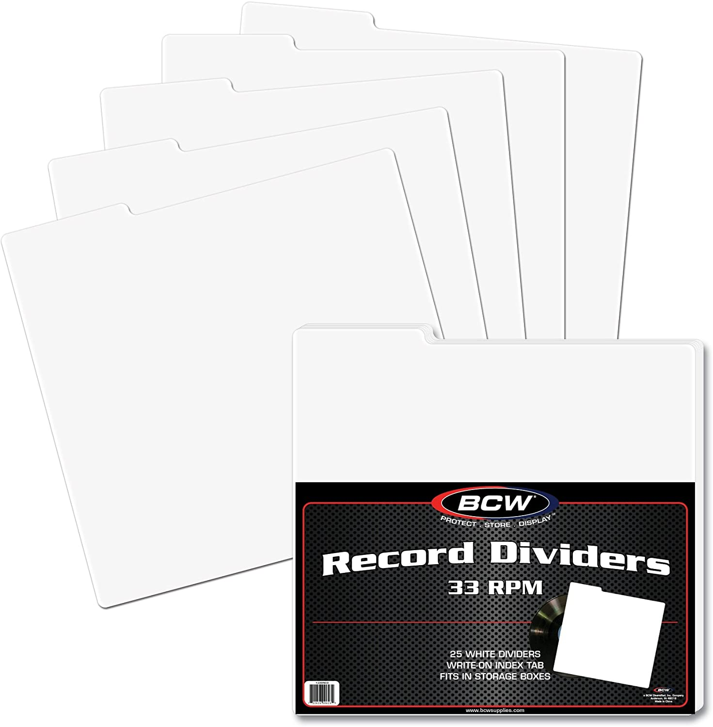 MAGAZINE SIZE BCW 25 count *FREE SH in USA Tabbed Box Dividers 28-mil Poly