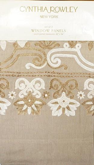 Amazon.com: Cynthia Rowley Window Panels Curtains 42 by 96-inch ...