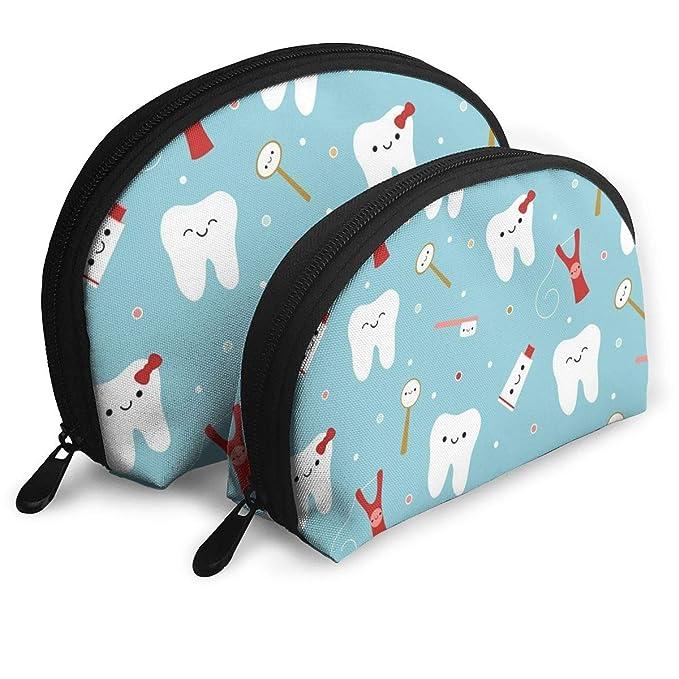 Amazon.com: Bolsa de cosméticos de tela dental con diseño de ...