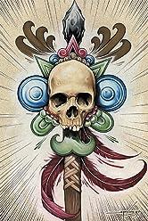 4924cc8d4 Trophy Head by Spyder Tribal Spear w/ Skull Tattoo Artwork Canvas Fine Art  Print