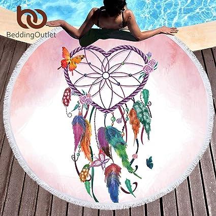 Amazon.com: Bedding Outlet Mandala Tassel Tapestry Round ...