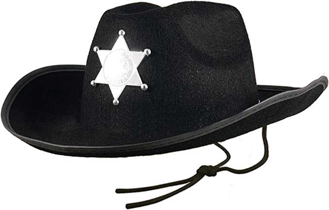 Black Felt With Badge Fancy Dress Accessory SAME DAY SHIP UK Police Woman Hat