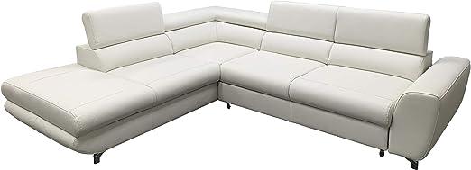 Amazon.com: Piano Leather Sectional Sleeper Sofa, Left ...