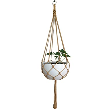 Macrame Plant Hanger Hanging Planter Hanging Net Basket Hemp Rope 52 Inch for 10 inch Pot , Pot and Plant Excluded (8LEGS)