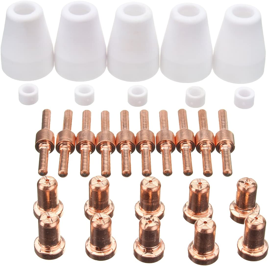 MASUNN 30pcs Thermal Dynamics plasma cortador consumibles repuestos Kit consejos para BPS40