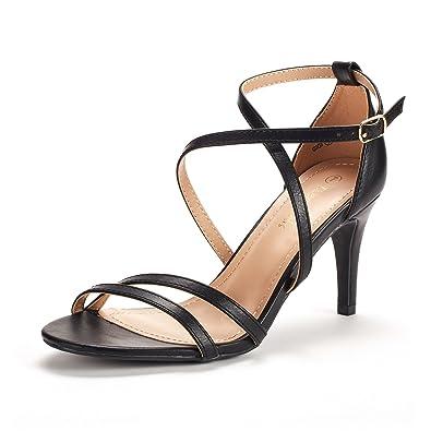 bc3eda12e65 DREAM PAIRS Women's Fashion Stilettos Open Toe Pump Heeled Sandals