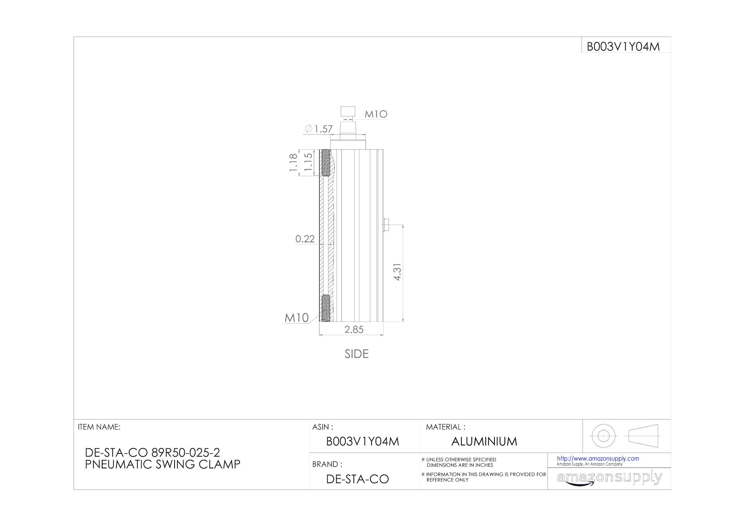 DE-STA-CO 89R50-025-2 Pneumatic Swing Clamp by De-Sta-Co (Image #3)