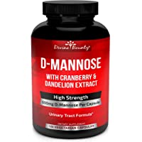 D-Mannose Capsules - 600mg D Mannose Powder per Capsule with Cranberry and Dandelion Extract to Support Normal Urinary…