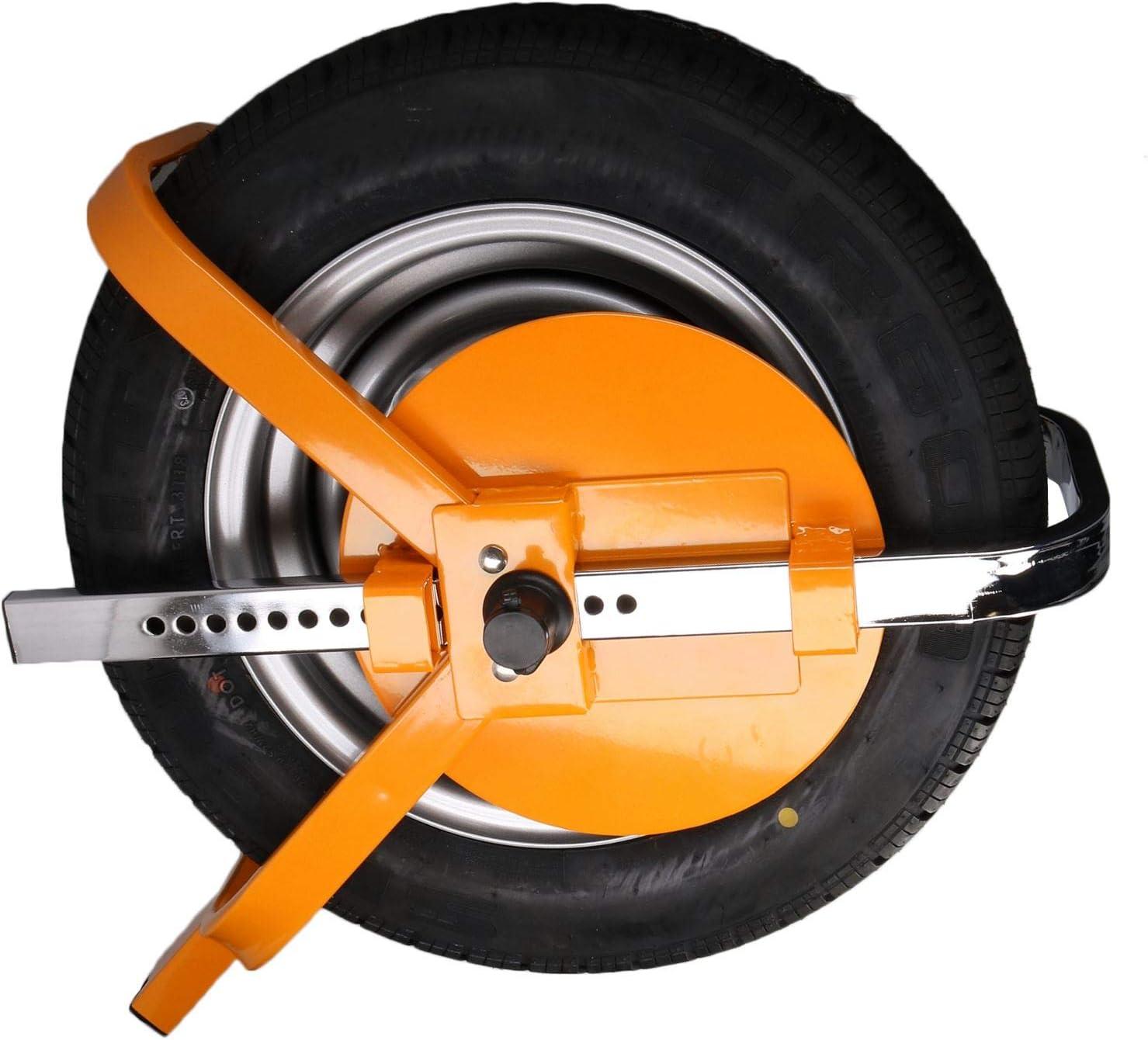 Wheel Clamp Trailer Caravan Steel Security Lock 8 10 Wheels