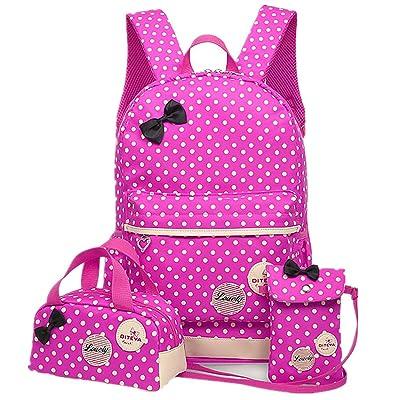 FOLLOWUS Backpacks for Girls School Backpack Purse Lunch Bag 3 in 1