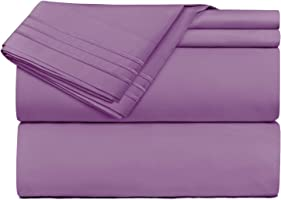 Bed Sheets Set, Highest Quality Bedding Sheets Set on Amazon, Deep Pockets Fitted Sheet, 100% Luxury Soft Microfiber,...