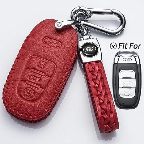 Amazon.com: Hey Kaulor Audi - Funda de piel para llave de ...