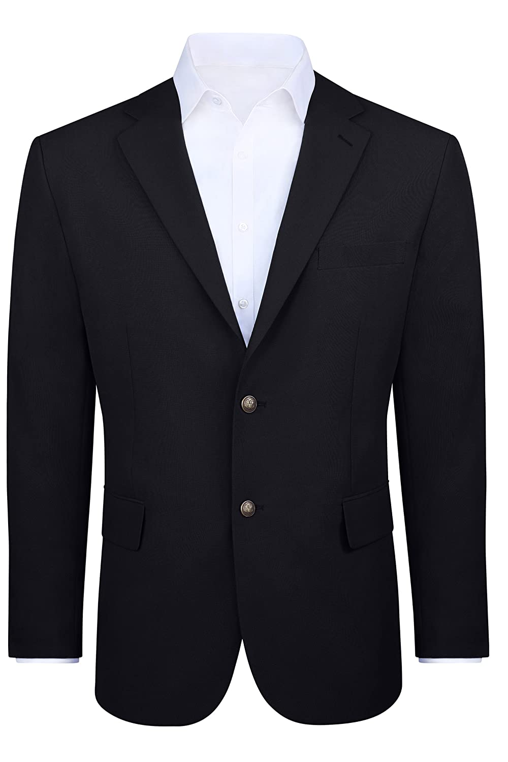 05072f2c Styled with a notch lapel, two regular side pockets, antique gold-colored  buttons on the front and the sleeves, and double vented back, this men\'s  blazer ...