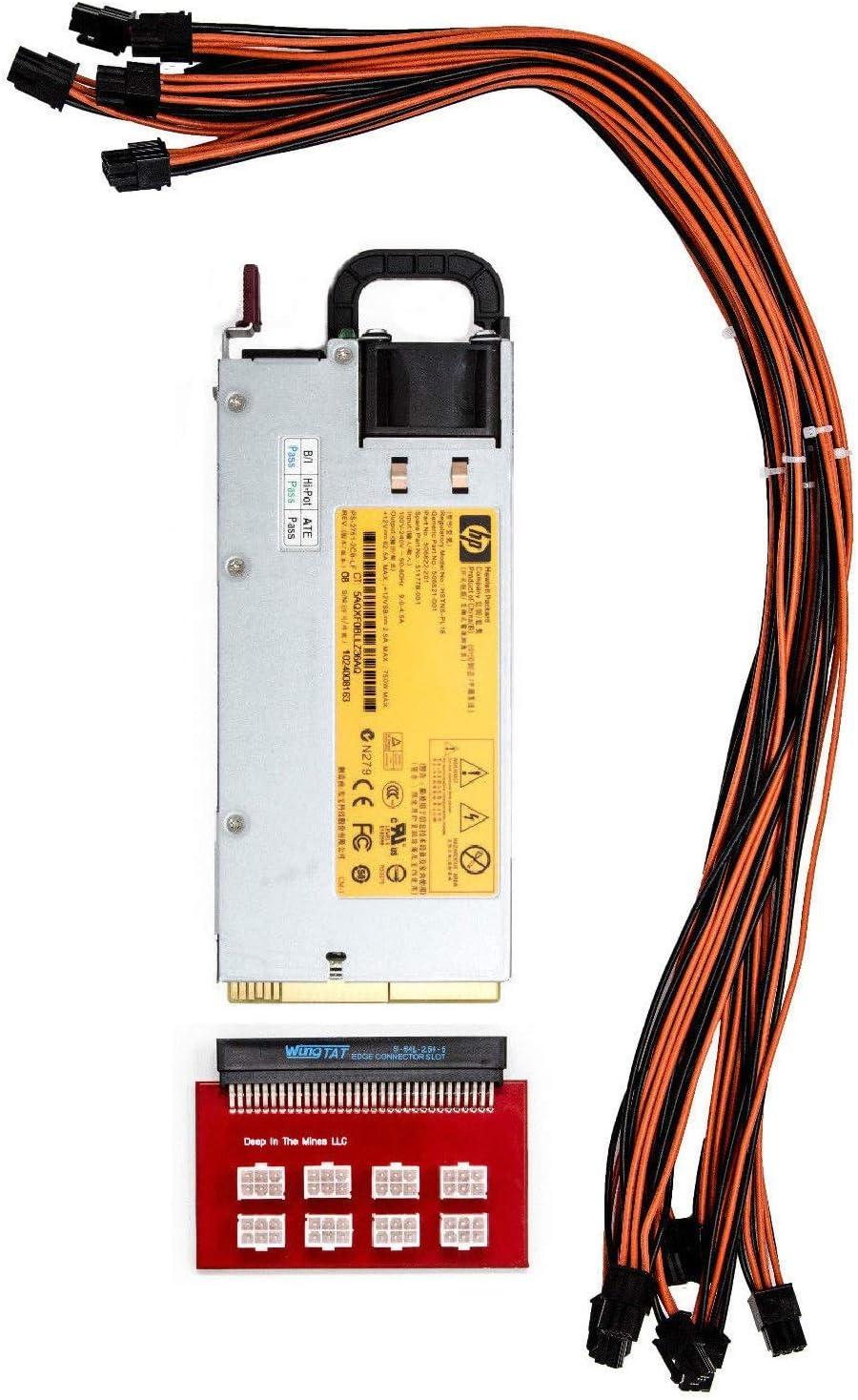 Bitmain Z9 Mini 750w PSU Platinum 94/% Power Supply 6 Pin Breakout 120V-240V