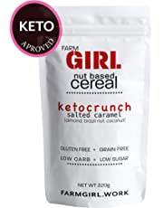 Farm Girl: Keto Crunch Salted Caramel, Nut Based Cereal, Keto Approved, Low Lectin, Vegan,