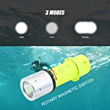 CooiLight Upgraded Version Diving Flashlight Cree