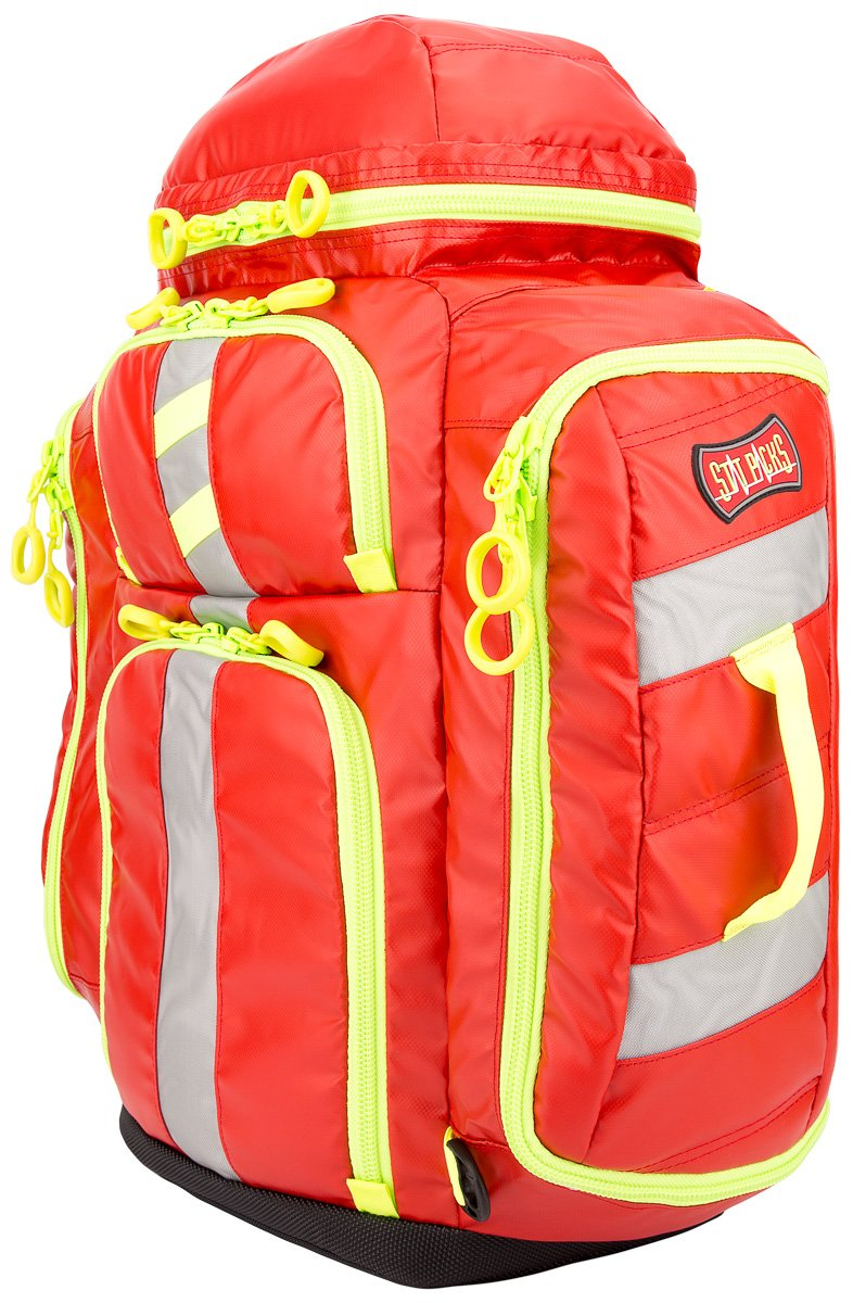 Image of Diagnostics & Screening Statpacks G3 Perfusion Red, EMS Medic Hybrid Backpack, Side Sling, Shoulder Bag, Ergonomic, Lightweight ALS Trauma Bag for EMS, Police, Firefighters