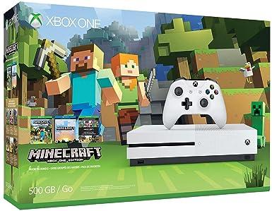Amazon Com Xbox One S 500gb Console Minecraft Bundle Discontinued Microsoft Video Games