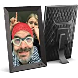 NIX 10.1 Inch Digital Picture Frame - Portrait or Landscape Stand, HD Resolution, Auto-Rotate, Remote Control - Mix Photos an