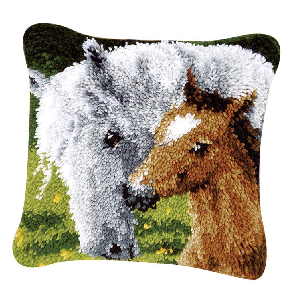 DIY Home Ornaments Pillows Case Making Kit Leopard Baoblaze Latch Hook Kit