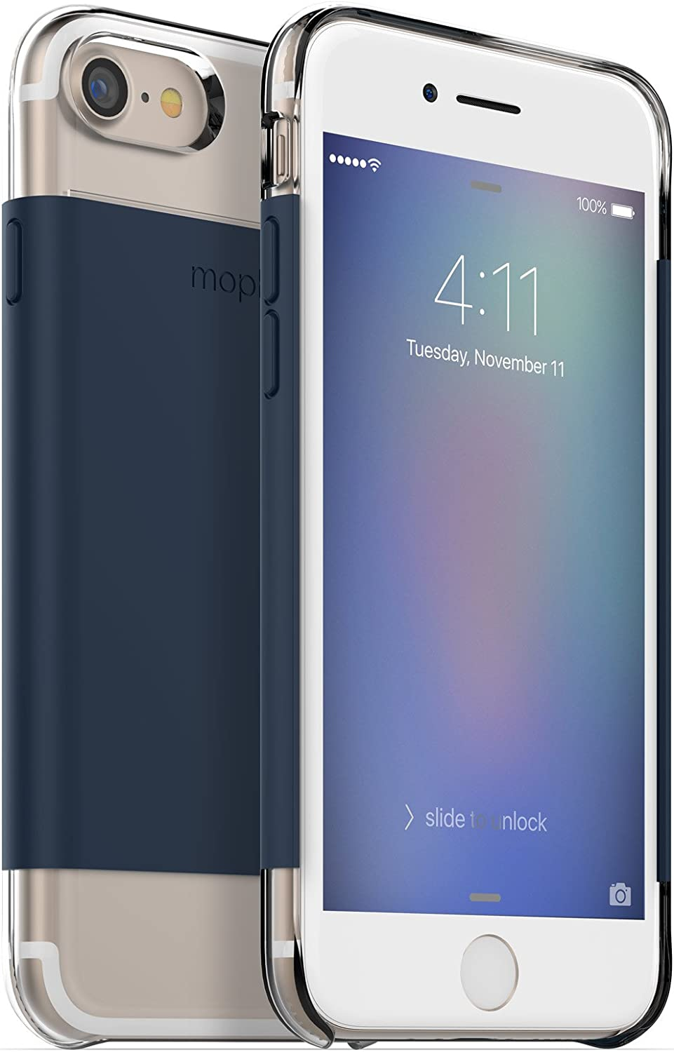 mophie Hold Force wrap Base Case for Apple iPhone 8, iPhone 7 - Navy