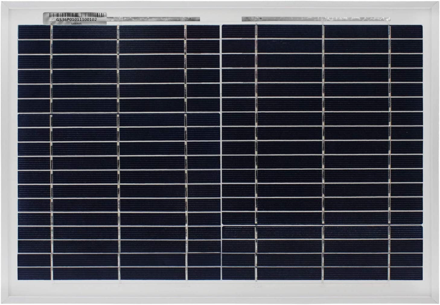 Mighty Max Battery 10 Watt Polycrystalline Solar Panel Charger for Deep Cycle Battery