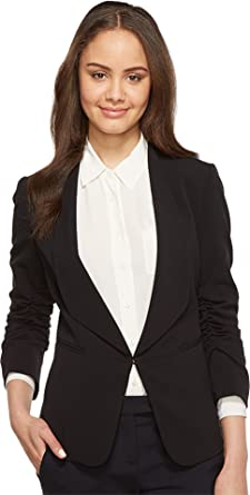 Tahari by Arthur S Levine Womens Bistretch Ruched Sleeve Jacket