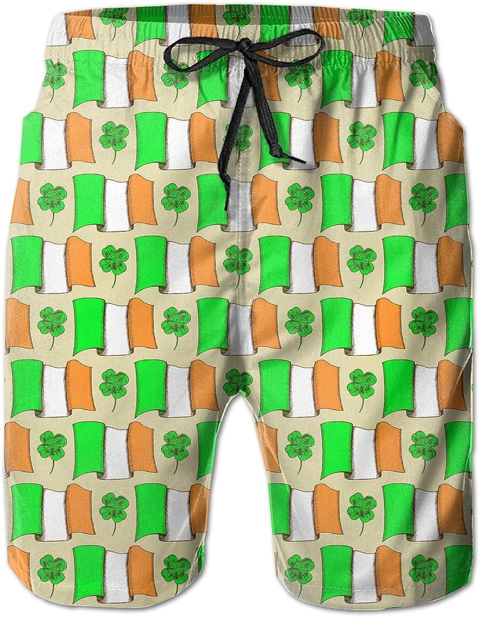 Patricks Day Irish Shamrock Pattern Boardshorts Beach Pants STDKNSK9 Mens St