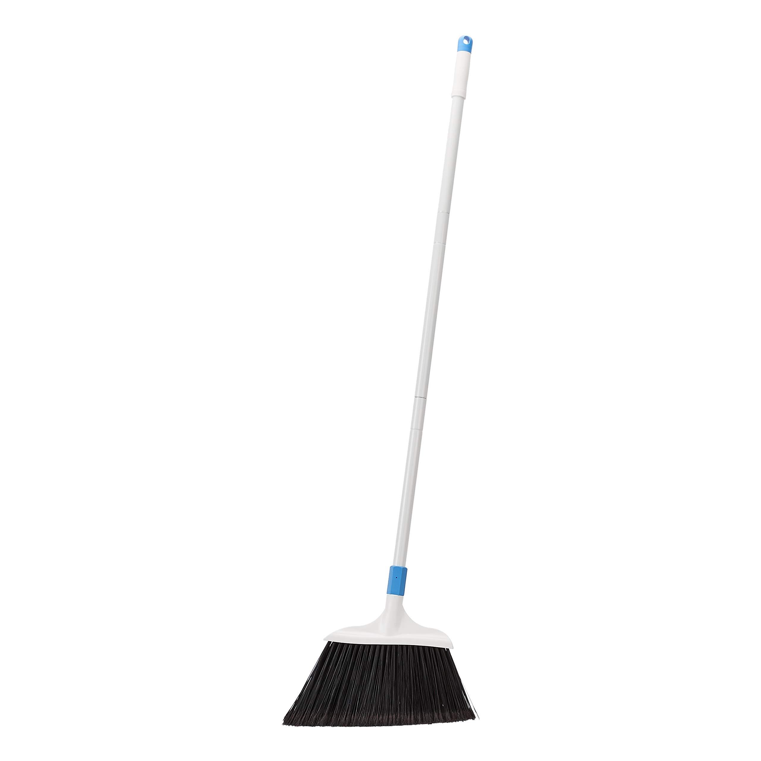 AmazonBasics Heavy-Duty Broom, Blue&White