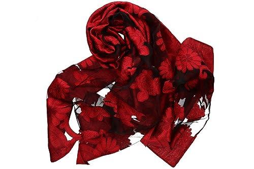 Sciarpa donna ROMEO GIGLI rosso stola fantasia floreale