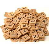 Fuhaieec 100 Wood Scrabble Tiles