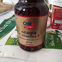Onagra Con Vitamina E De 500 Miligramos 220 Perlas De Obire ...