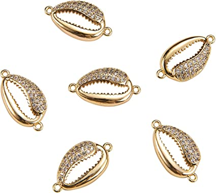 10pcs Gold Plated Micro Pave CZ Leaf charms For DIY Jewelry Making