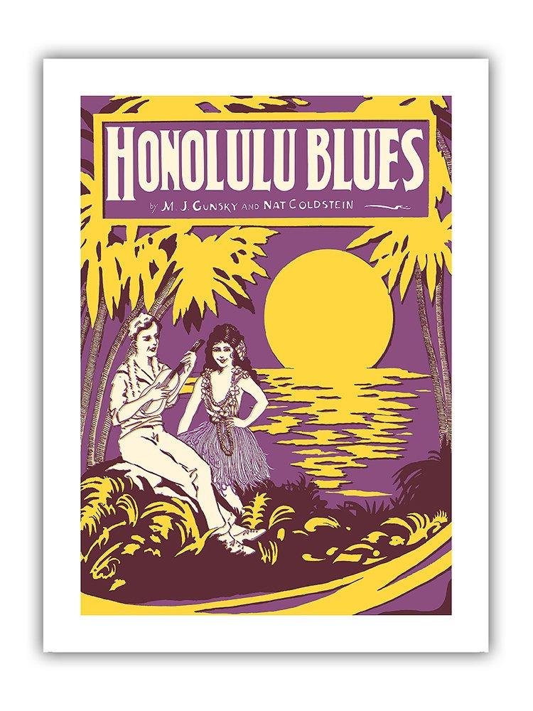 Pacifica Island Art 8x12 Cartel de Chapa Vintage-Honolulu ...