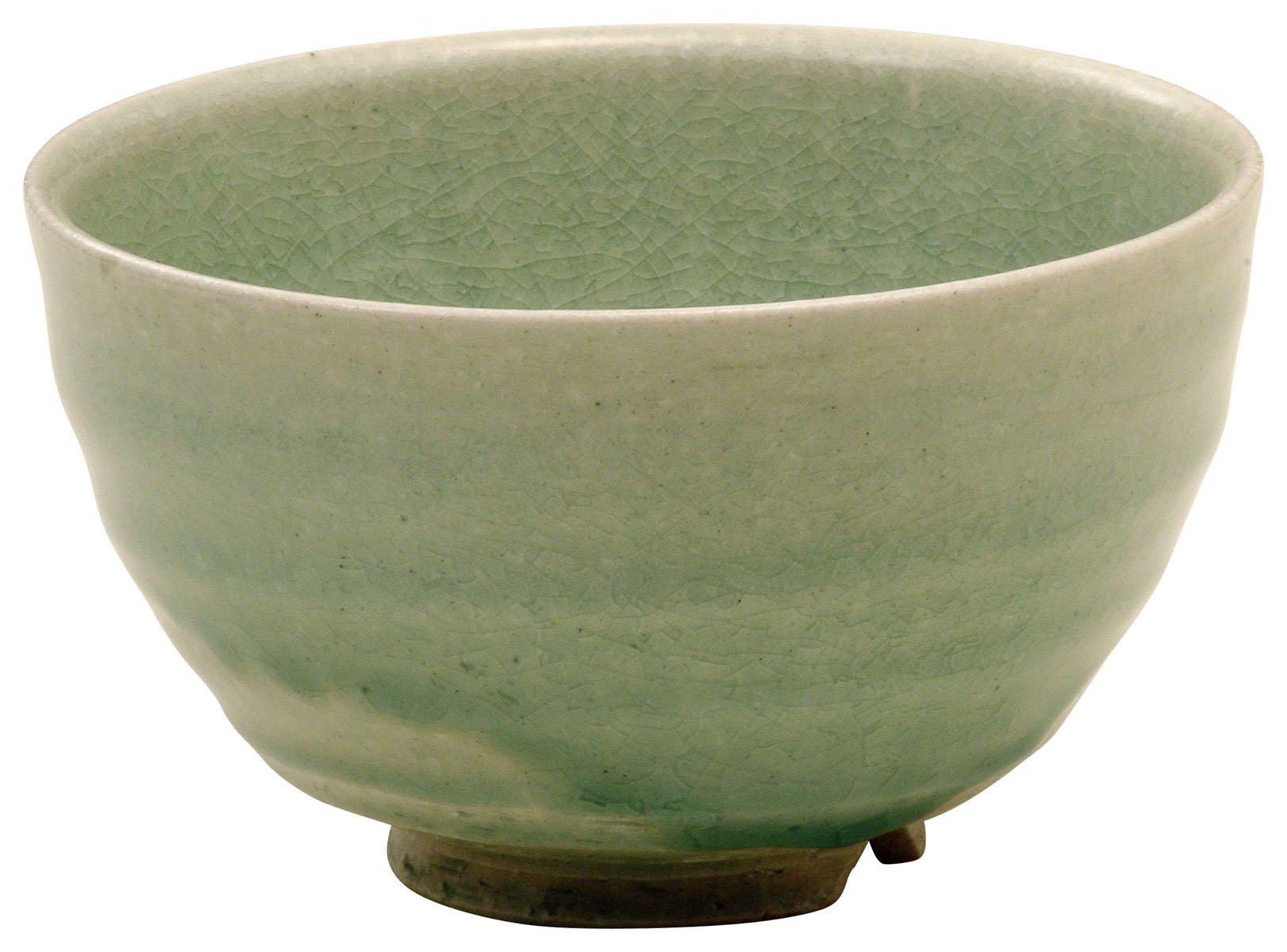 Shigaraki Ware Green Glaze Matcha Bowl 3-2702 by Shigaraki Ware