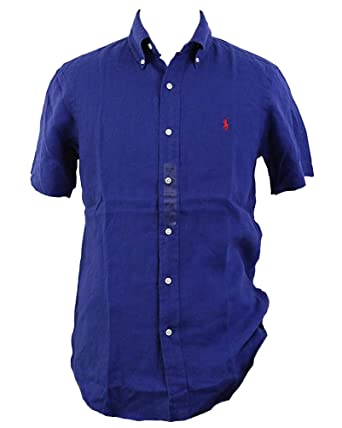 Polo Ralph Lauren Men s Linen Button Down Shirt at Amazon Men s ... 27e006f64