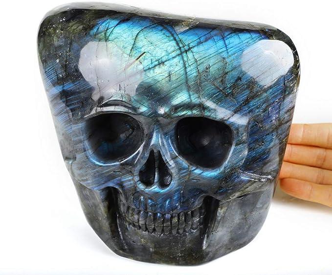 """Details about  /2/"""" Natural Labradorite Hand Carved Frog Skull Quartz Crystal Reiki Healing 1PC"""